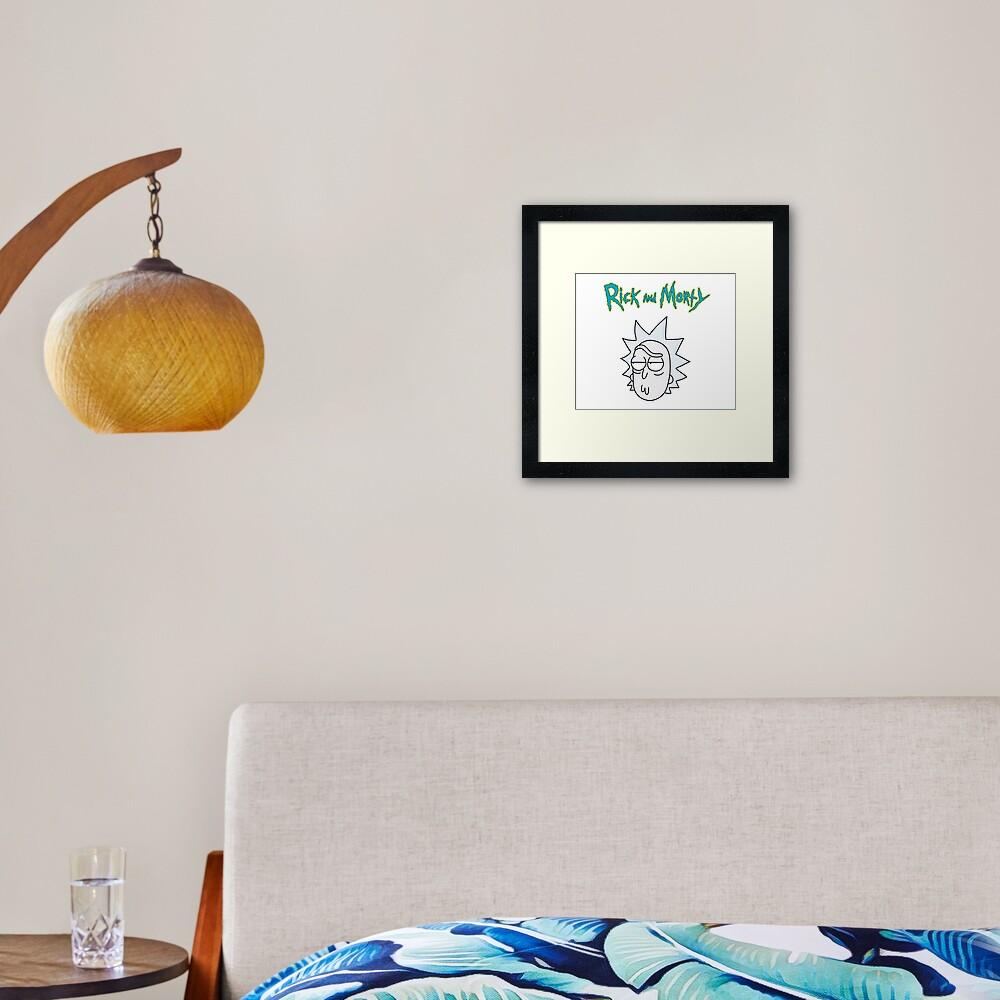 Rick Sanchez   Rick and Morty Character Framed Art Print