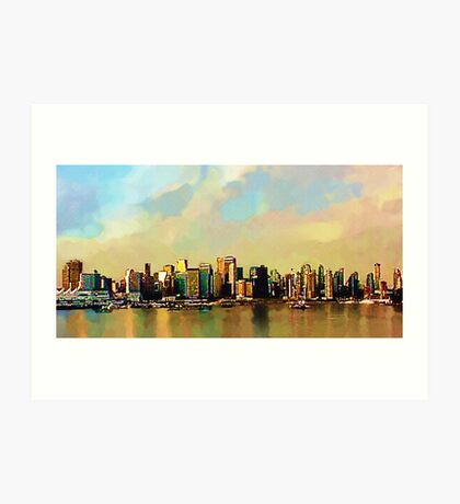 Sunrise on Vancouver Harbor, BC, Canada Art Print
