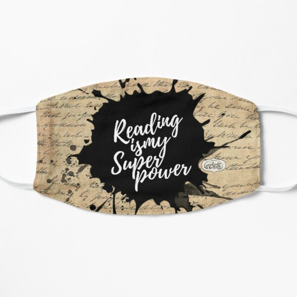 Reading is my Superpower Ink Splatter Typography Quote Art (Vintage Paper) Mask