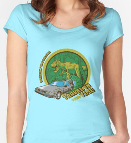 Travel in Time Women's Fitted Scoop T-Shirt