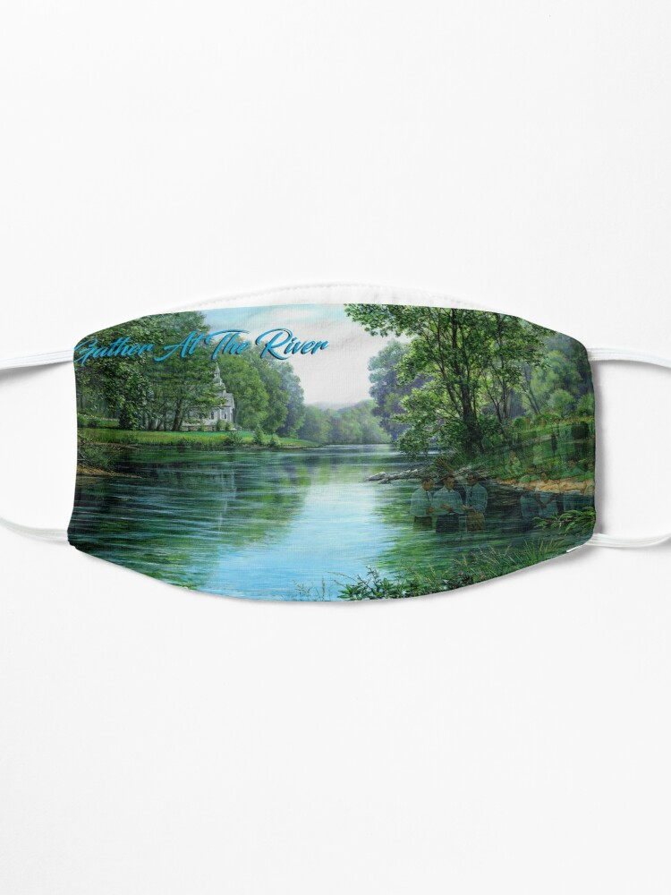 Alternate view of Gather at the River Mug Mask