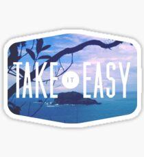 Take it easy island tiki tropical beach summer ocean trendy boho pic Sticker