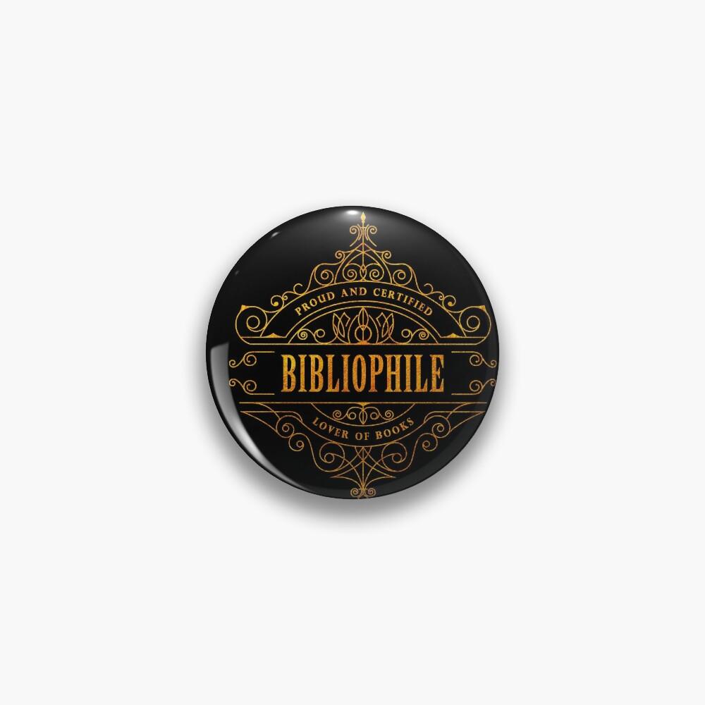 Gold Bibliophile - black Pin