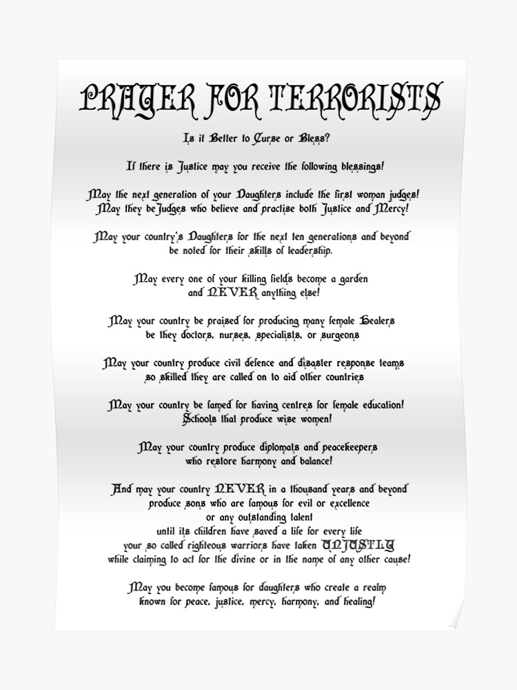 Prayer For Terrorists | Poster