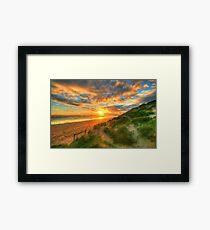 Ocean Grove Sunset Framed Print