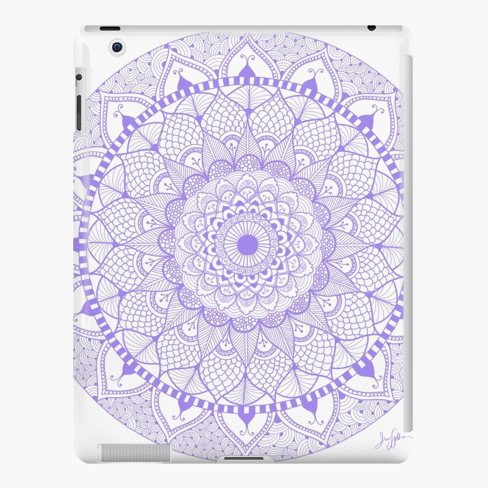 Lila Boho Zentangle Mandala iPad-Hülle & Skin