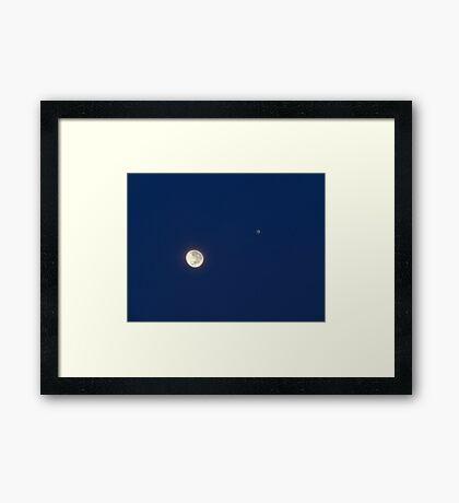 Moon And Jupiter Framed Print