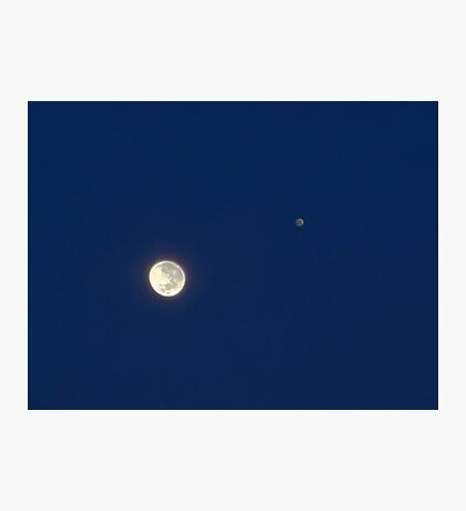 Moon And Jupiter Photographic Print
