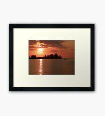 Sunset on fire Port Hudson, Florida Framed Print