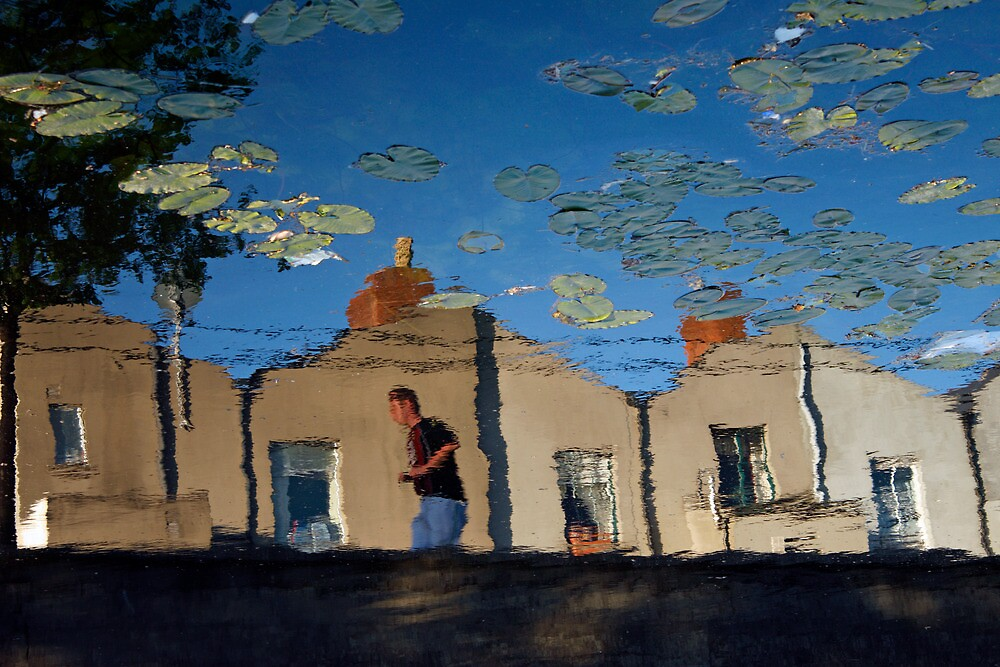 Reflections at Dublin's Grand Canal by Esther  Moliné