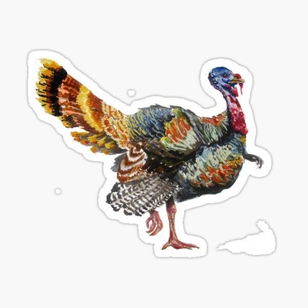 Turkey Plumage Sticker