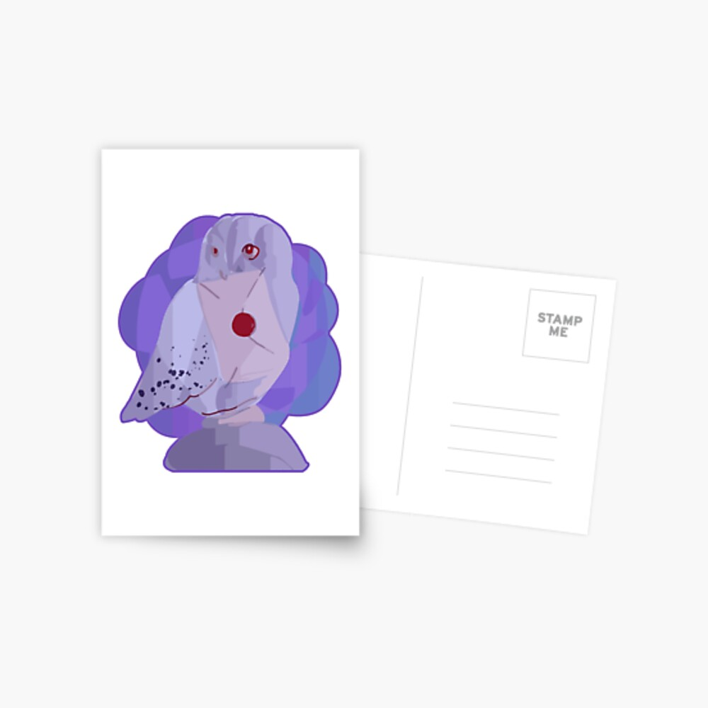 Magical owl with letter of acceptance Postcard