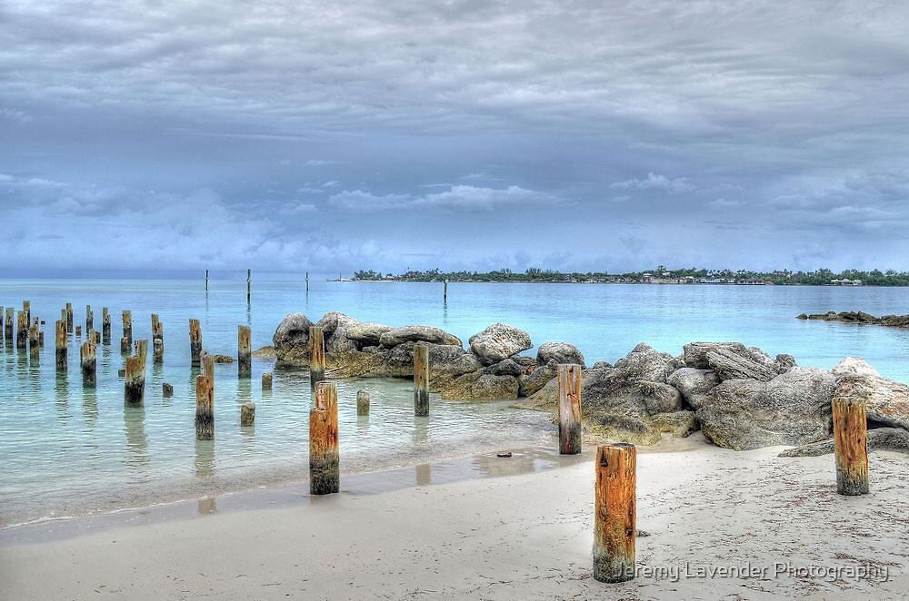 View of Nygard Cay from Jaws Beach in Nassau, The Bahamas by Jeremy Lavender Photography
