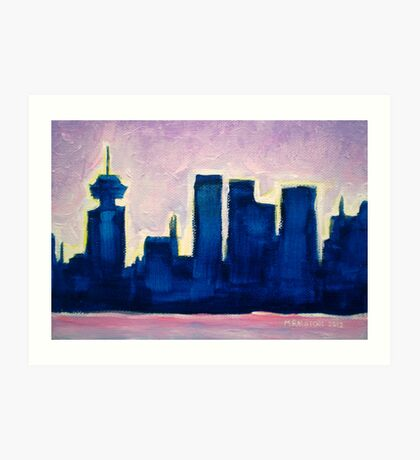 Sundown Vancouver Art Print
