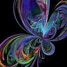 Swirly Rainbow Butterfly by pjwuebker