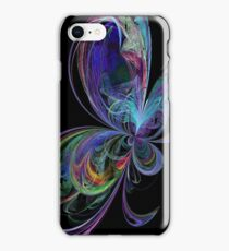Swirly Rainbow Butterfly iPhone Case/Skin