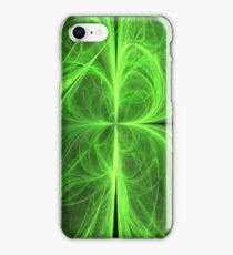 Swirling Four Leaf Clover iPhone Case/Skin
