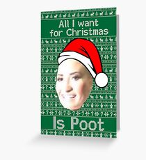 POOT LOVATO CHRISTMAS MEME Greeting Card