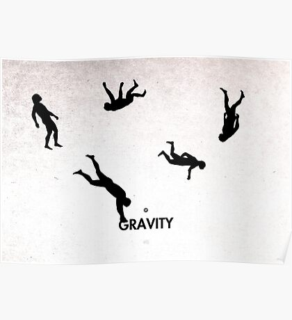 99 Steps of Progress - Gravity Poster