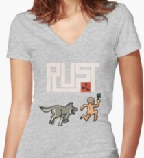 Rust players be like Women's Fitted V-Neck T-Shirt
