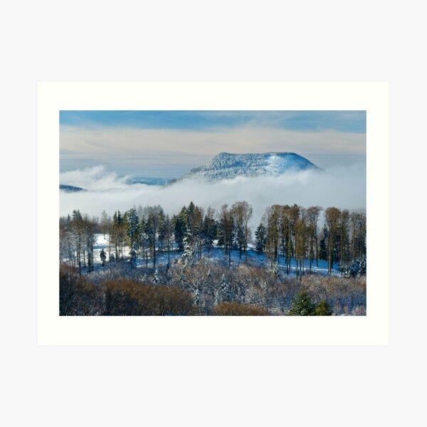 Le Climont en hiver Impression artistique