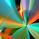 Rainbow of Digital Flower Petals by pjwuebker