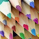 Rainbow of Colored Pencil Points by pjwuebker