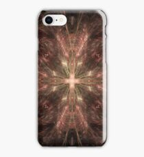 Radiating Gold Cross Abstract iPhone Case/Skin