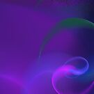 Purple Invaded by Blue Pink and Green by pjwuebker