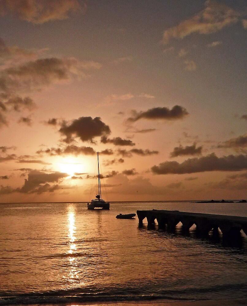 St Lucia sunset by Rebecca Mason