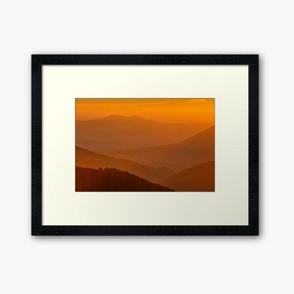 Lever de soleil depuis le Climont Impression encadrée