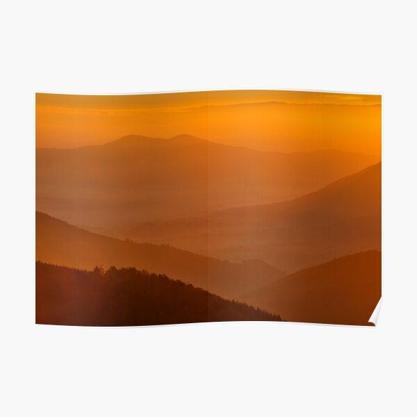 Lever de soleil depuis le Climont Poster