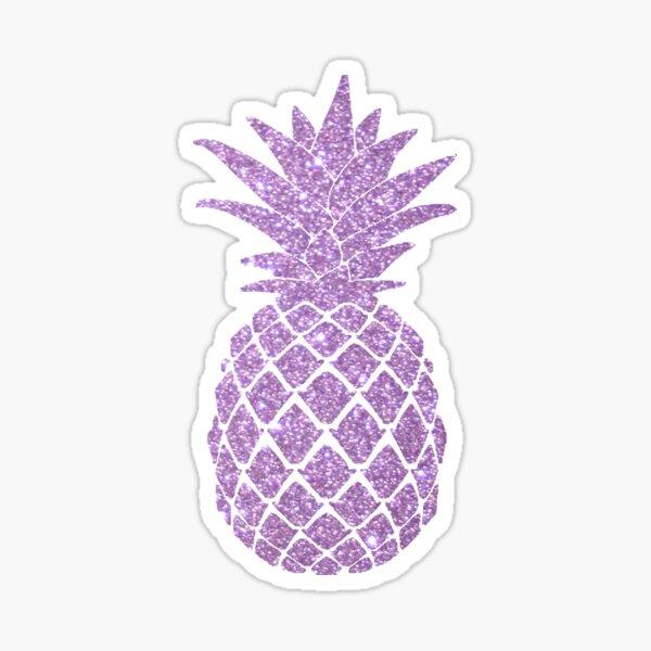 Pastel Mauve Purple Pineapple - Glitter Pineapple  Sticker