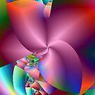 Pink Pinwheel Abstract by pjwuebker