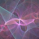 Pink Bows Abstract by pjwuebker