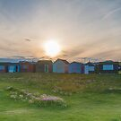 Beach Huts at Portland Bill by bethadin