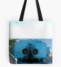 binoculars viewpoint Tote Bag
