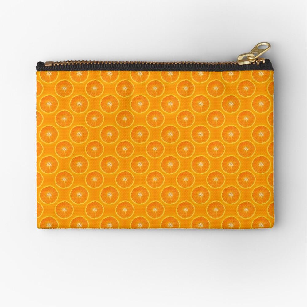 Orange | Fruit Pattern Zipper Pouch