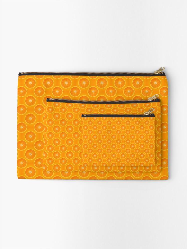 Alternate view of Orange | Fruit Pattern Zipper Pouch
