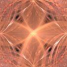 Peach Colored Swirling Cross by pjwuebker
