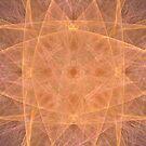 Pastel Orange Starburst by pjwuebker