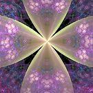 Pastel Floral Cross in Pink by pjwuebker
