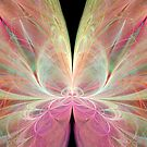 Pastel Butterfly in Abstract by pjwuebker