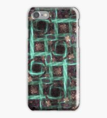Holes in Blue Screen Abstract iPhone Case/Skin