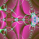 Green Rings on Pink by pjwuebker