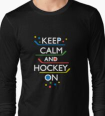 Keep Calm and Hockey On - dark Long Sleeve T-Shirt