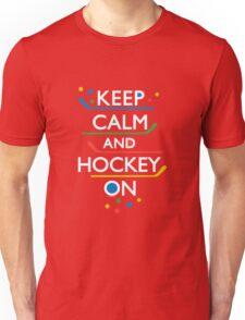 Keep Calm and Hockey On - dark T-Shirt