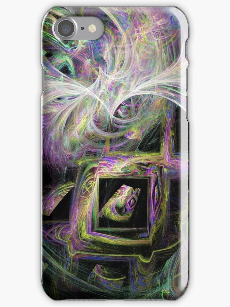 Framed Rainbow Swirls by pjwuebker