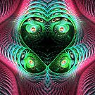Colorful Four Eyes Abstract by pjwuebker