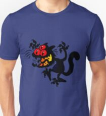 Cartoon Scaredy Cat T-Shirts by Cheerful Madness!! Unisex T-Shirt
